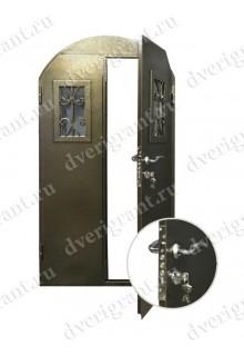 Металлическая нестандартная дверь - модель 14-012