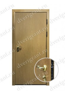 Металлическая входная дверь в квартиру с тепло-шумоизоляцией - модель 17-009