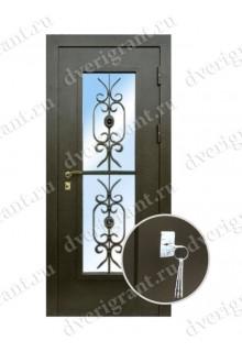 Металлическая дверь для коттеджа - модель 19-004