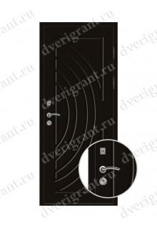 Металлическая дверь для коттеджа - модель 19-006