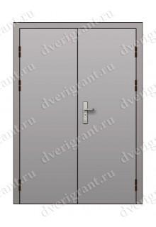 Двустворчатая противопожарная дверь EI-60 (ДПМ-2-60)