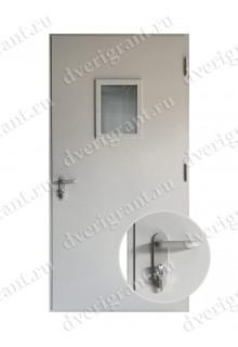 Одностворчатая противопожарная дверь с остеклением EI-60 (ДПМО-1-60) в Санкт-Петербурге
