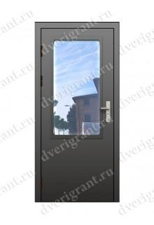 Однопольная противопожарная дверь с остеклением EI-60 (ДПМО-1-60)