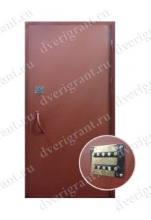 Недорогая металлическая дверь в подъезд - модель 02-001