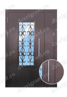 Металлическая дверь в подъезд - модель 02-002
