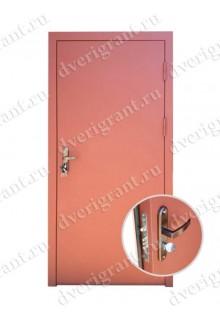 Металлическая дешевая дверь - модель 06-002