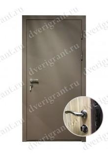 Металлическая дешевая дверь - модель 06-003
