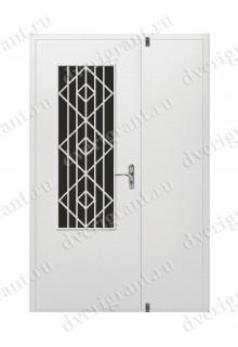 Входная металлическая двухстворчатая дверь - 10-026