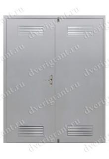 Входная металлическая двухстворчатая дверь - 10-027