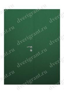 Входная металлическая двухстворчатая дверь - 10-030