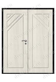 Входная металлическая двухстворчатая дверь - 10-031