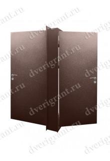 Двойная металлическая входная дверь в квартиру - модель 17-048
