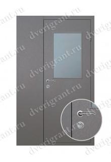 Металлическая уличная дверь со стеклопакетом - 19-032