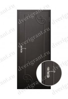 Металлическая уличная дверь с коваными элементами - 19-038