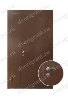 Металлическая двухстворчатая дверь - модель 21-001