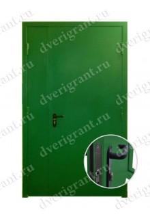 Металлическая двухстворчатая дверь - модель 21-004