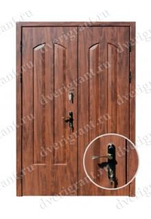 Металлическая двухстворчатая дверь - модель 21-005