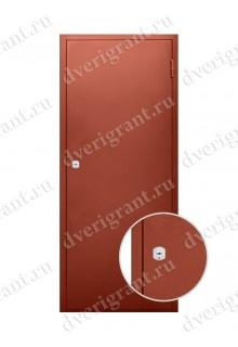 Недорогая металлическая строительная дверь - модель 23-002