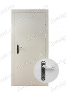 Узкая металлическая дверь - модель 08-003
