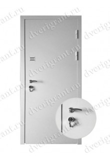 Металлическая уличная дверь для частного дома - модель 16-004