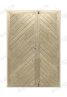 Дверь с отделкой вагонка - модель 18-034