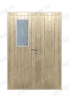 Дверь с отделкой вагонка - модель 18-035