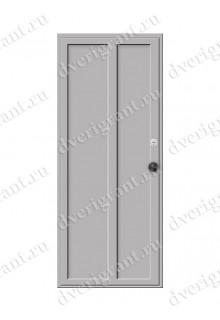 Недорогая металлическая дверь для бани - модель МДБ-001