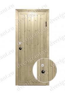 Недорогая металлическая дверь для бани - модель МДБ-013