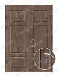 Двустворчатая металлическая дверь 14-002