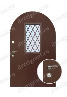 Металлическая нестандартная дверь - модель - 14-004