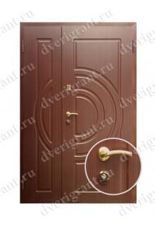 Двустворчатая металлическая дверь 14-006