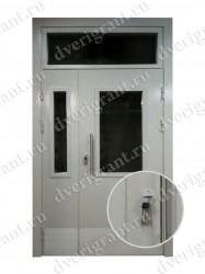 Двустворчатая металлическая дверь 14-011