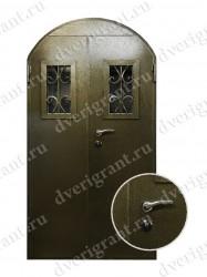 Двустворчатая металлическая дверь 14-012