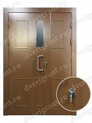 Двустворчатая металлическая дверь 14-014