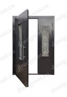 Двустворчатая металлическая дверь 14-022