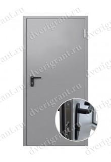 Одностворчатая противопожарная дверь EI-60 (ДПМ-1-60)