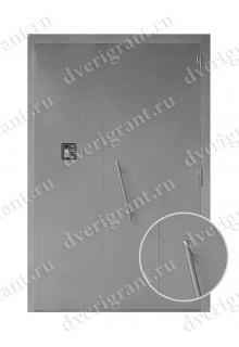 Металлическая дверь для подъезда - 02-014