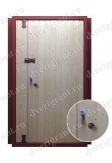 Двустворчатая металлическая дверь 06-007