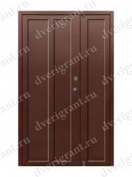 Входная металлическая двухстворчатая дверь - 10-020