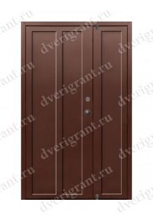 Двустворчатая металлическая дверь 10-020