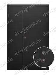Входная металлическая двухстворчатая дверь - 10-021