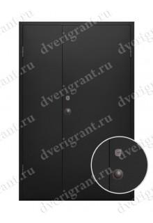 Двустворчатая металлическая дверь 10-021