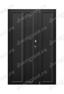 Металлическая двухстворчатая дверь - модель - 10-021