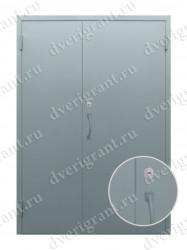Входная металлическая двухстворчатая дверь - 10-022