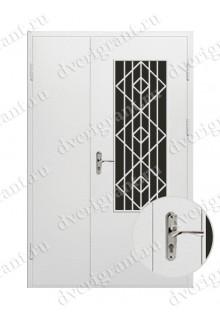 Металлическая двухстворчатая дверь - модель - 10-026