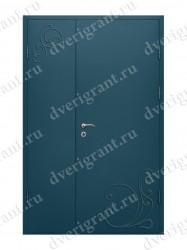 Входная металлическая двухстворчатая дверь - 10-028