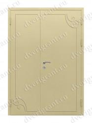 Входная металлическая двухстворчатая дверь - 10-029