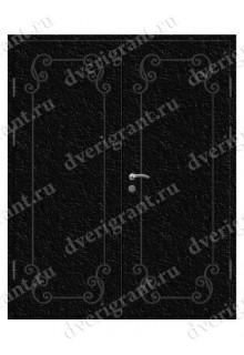 Двустворчатая металлическая дверь 10-031