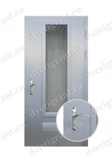 Металлическая дверь с вентиляционной решеткой - 10-93