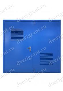 Металлическая дверь с вентиляционной решеткой - 11-05